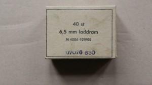 Boite de 40 clips lame chargeur pour Suédois M96