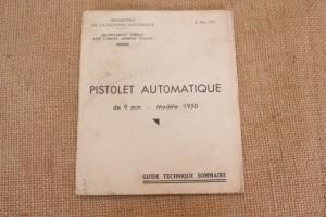 Guide technique du pistole automatique de 9mm modèle 1950