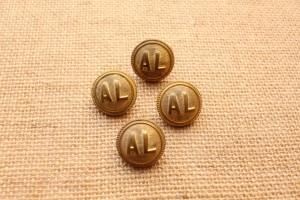 Boutons bombés de la compagnie des chemins de fer Alsace-Lorraine - 22 mm