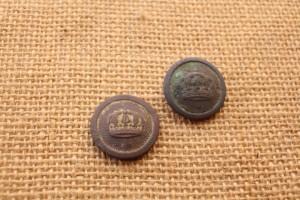 Boutons semi bombés de tunique prussienne - diamètre 20mm