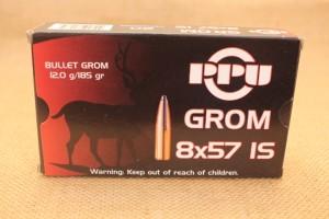Munition PPU calibre 8x57 IS GROM, 185 grain
