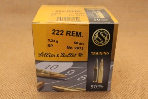 Munition Sellier & Bellot calibre 222 REM, 50 grain SP