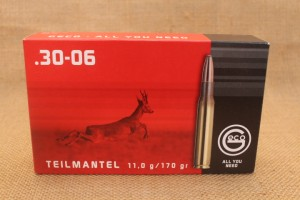 Munition GECO Teilmantel calibre 30-06, 170 grain Soft Point Bullet