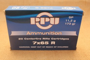 Munition PPU calibre 7x65 R, 173 grain SP