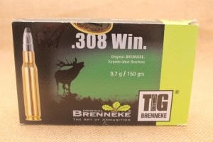 Munition Brenneke TIG calibre 308 WIN, 150 grain