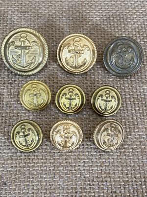 """Lot de boutons """"Infanterie de Marine"""""""