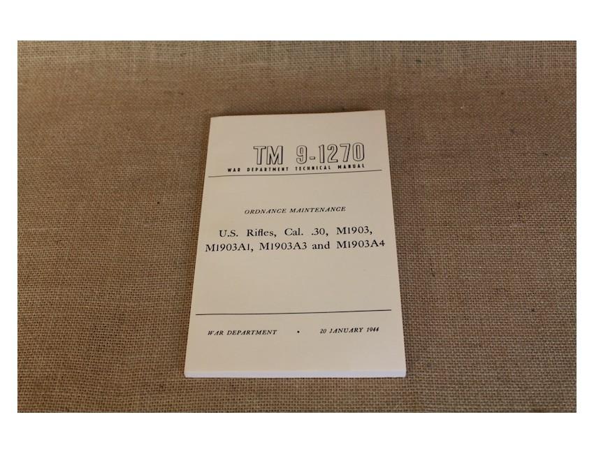 Manuel d'instruction US pour la carabine M1903
